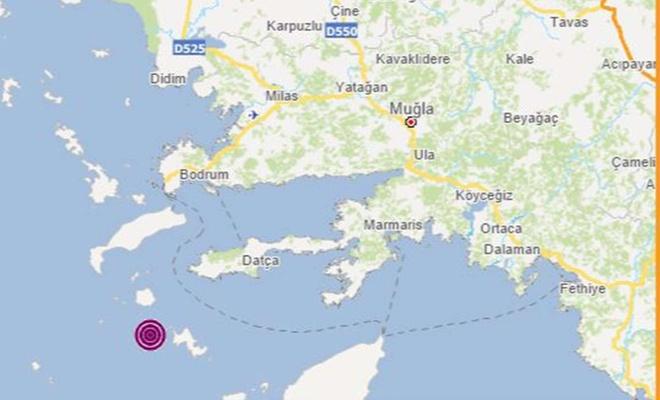 Muğla Datça'da 5,3 büyüklüğünde deprem meydana geldi