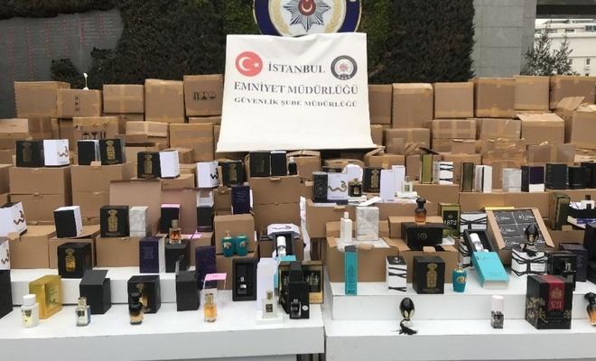 İstanbul'da 70 milyon lira değerinde sahte parfüm ele geçirildi