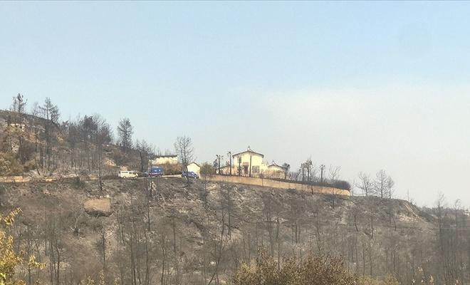 Orman yangınında hasar gören evde çiftin cansız bedenleri bulundu