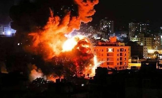 İşgal rejiminden Gazze'ye hava saldırısı: Çok sayıda yaralı var