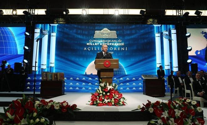 أردوغان يفتتح مكتبة الأمة في المجمع الرئاسي بالعاصمة أنقرة