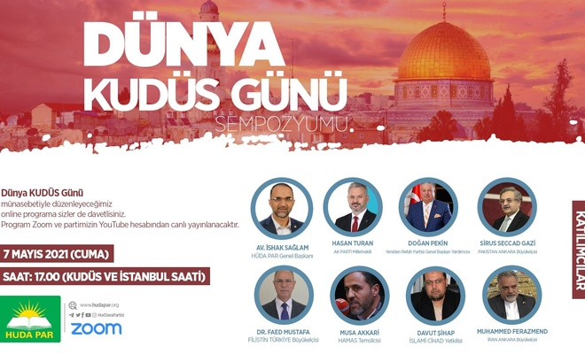 Dünya Kudüs Günü Sempozyumu Başladı (İzlemek için tıkla)