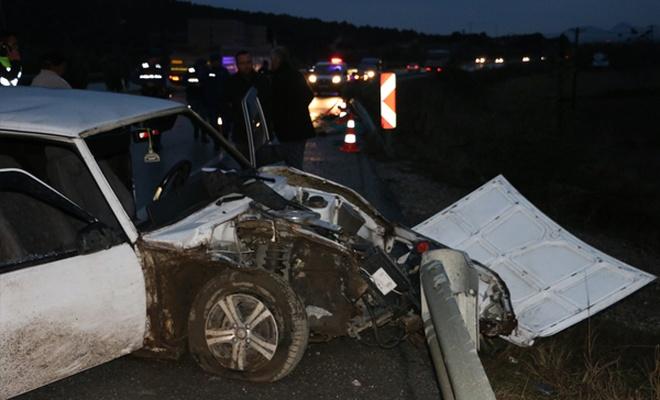 Manisa`da trafik kazası: 1 ölü, 1 yaralı
