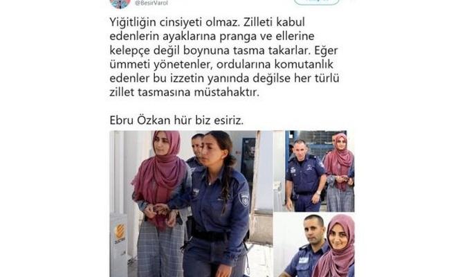 Sosyal medya #EbruÖzkanaÖzgürlük dedi