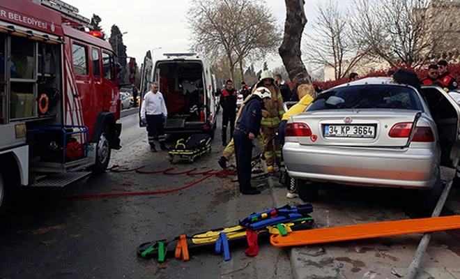 İstanbul Fatih'te feci kaza: 2'si ağır 5 yaralı