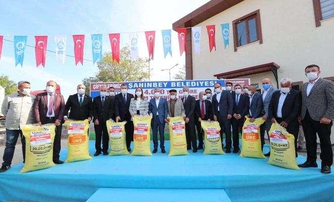 Gaziantep'te çiftçilere gübre desteği verildi