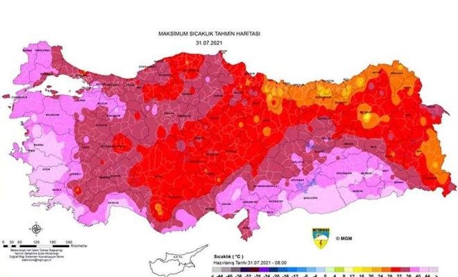Meteoroloji'den Türkiye genelinde beklenen aşırı sıcaklara karşı uyarı