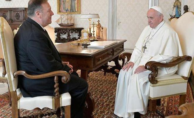 Pompeo'dan Vatikan-Çin arasındaki piskopos anlaşmasına tepki