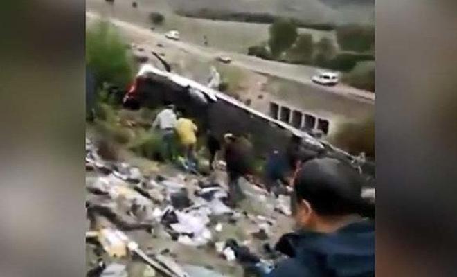 Fas'ta yolcu otobüsü şarampole yuvarlandı: 8 ölü
