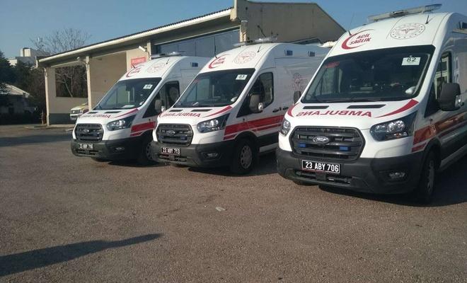 Elazığ'a 4 ambulans tahsis edildi