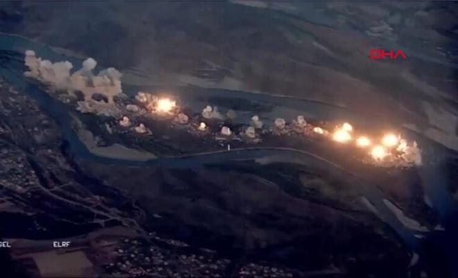 Koalisyon güçleri Dicle Nehri üzerinde yer alan Işid kontrolündeki adayı bombaladı