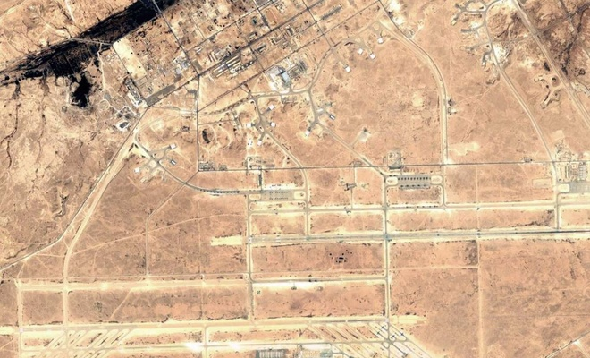 At least 10 missiles fall on the American Ain al-Assad base in Iraq
