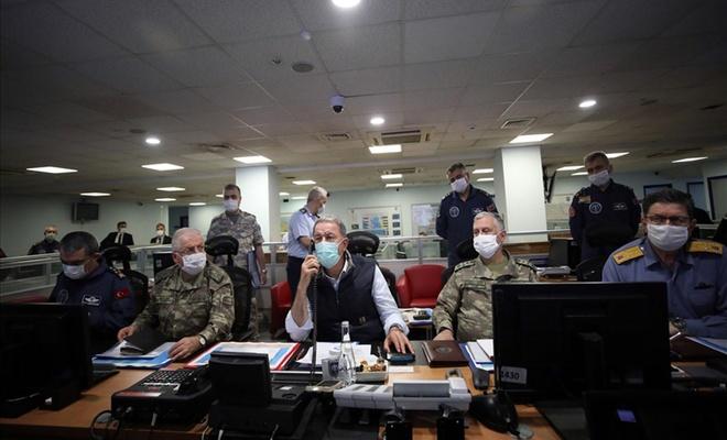 Pençe-Kartal Operasyonu'nu, Bakan Akar ve TSK Komuta Kademesi sevk ve idare ediyor