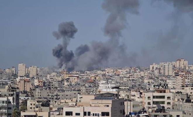 Siyonist işgal rejiminin Gazze'ye hava saldırısına HAMAS'tan tepki