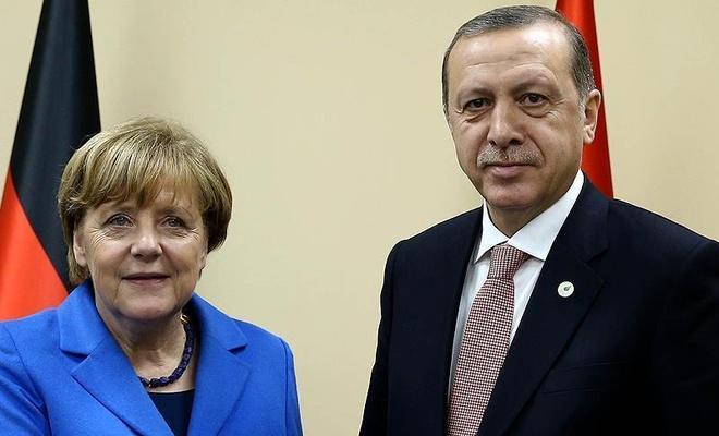 Cumhurbaşkanı Erdoğan Merkel'le görüştü