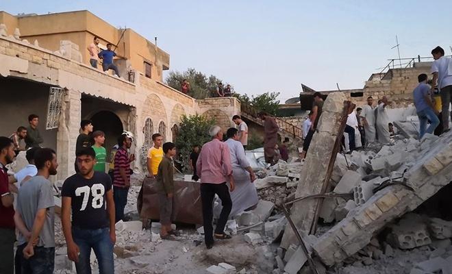 Baas rejimi ve destekçileri İdlib'e saldırdı: 4 ölü, 9 yaralı