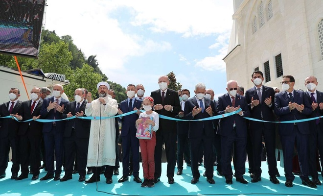 Erdoğan Zonguldak'ta Uzun Mehmet Camisi'nin açılışını gerçekleştirdi