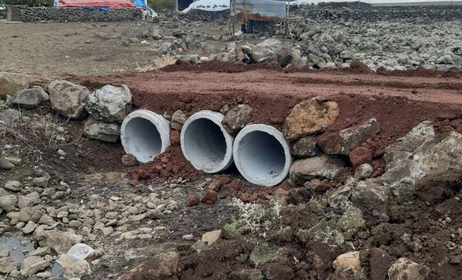 Karacadağ Bölgesinde yaşanan su taşkınlarına karşı çalışmalar tamamlandı