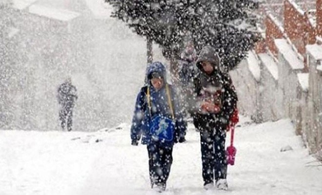 Kar etkisini arttırdı tatil haberi geldi