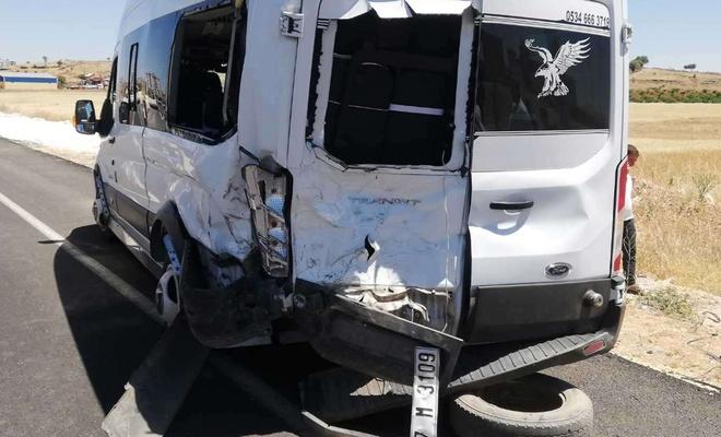 Mardin'de okul dönüşü kaza: 10 hafif yaralı