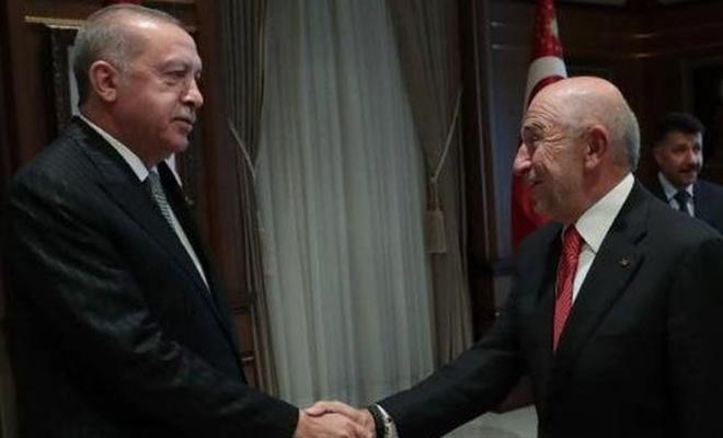 Erdoğan, TFF Başkanı Özdemir'i kabul etti