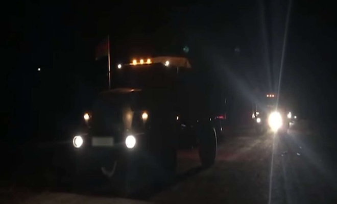 Azerbaijan Army enters the Lachin region